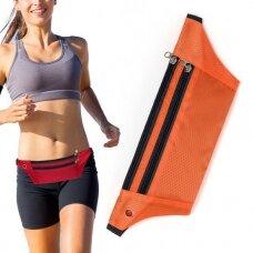 Ultimate Running Belt with headphone outlet  orange (hutl)