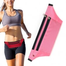 Ultimate Running Belt with headphone outlet  pink (hutl)