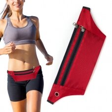 Ultimate Running Belt with headphone outlet  red (hutl)