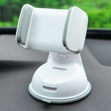 Universal car phone holder Hoco CA5, windshield mounting, short fixing, white