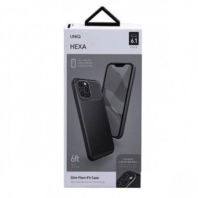 UNIQ Hexa etui na iPhone 12 Pro / iPhone 12 czarny 4