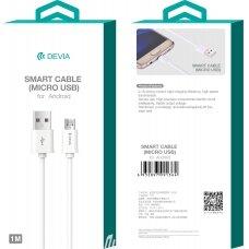 USB cable Devia Smart microUSB 2.0m white