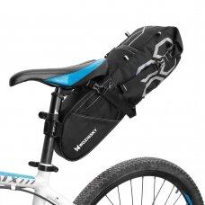 Wozinsky large roomy bicycle bag under the saddle 12 L black (WBB9BK)