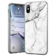 Wozinsky Marble TPU case cover for Samsung Galaxy M51 white