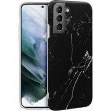 Wozinsky Marble TPU case cover for Samsung Galaxy S21 5G black