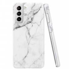 Wozinsky Marble TPU case cover for Samsung Galaxy S21+ 5G (S21 Plus 5G) white