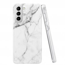 Wozinsky Marble TPU case cover for Samsung Galaxy S21 5G white