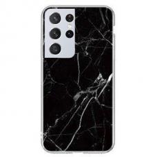 Wozinsky Marble TPU case cover for Samsung Galaxy S21 Ultra 5G black