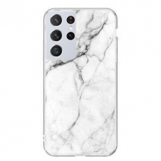 Wozinsky Marble TPU case cover for Samsung Galaxy S21 Ultra 5G white