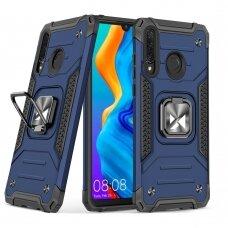 Wozinsky Ring Armor Case Kickstand Tough Rugged Cover for Huawei P30 Lite blue