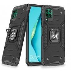 Wozinsky Ring Armor Case Kickstand Tough Rugged Cover for Huawei P40 Lite black
