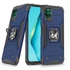 Wozinsky Ring Armor Case Kickstand Tough Rugged Cover for Huawei P40 Lite blue