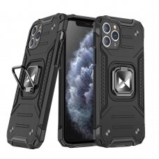 Wozinsky Ring Armor Case Kickstand Tough Rugged Cover for iPhone 11 Pro Max black