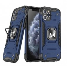 Wozinsky Ring Armor Case Kickstand Tough Rugged Cover for iPhone 11 Pro Max blue