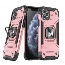 Wozinsky Ring Armor Case Kickstand Tough Rugged Cover for iPhone 11 Pro Max pink