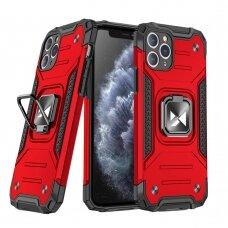 Wozinsky Ring Armor Case Kickstand Tough Rugged Cover for iPhone 11 Pro Max red