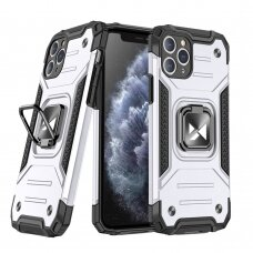 Wozinsky Ring Armor Case Kickstand Tough Rugged Cover for iPhone 11 Pro Max silver