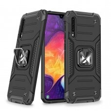 Wozinsky Ring Armor Case Kickstand Tough Rugged Cover for Samsung Galaxy A50s / Galaxy A50 / Galaxy A30s black