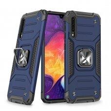 Wozinsky Ring Armor Case Kickstand Tough Rugged Cover for Samsung Galaxy A50s / Galaxy A50 / Galaxy A30s blue