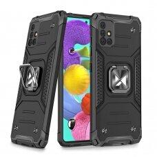 Wozinsky Ring Armor Case Kickstand Tough Rugged Cover for Samsung Galaxy A51 5G black