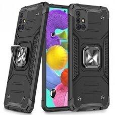 Wozinsky Ring Armor Case Kickstand Tough Rugged Cover for Samsung Galaxy A51 black