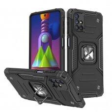 Wozinsky Ring Armor Case Kickstand Tough Rugged Cover for Samsung Galaxy M51 black