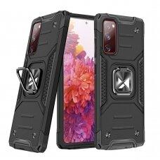 Wozinsky Ring Armor Case Kickstand Tough Rugged Cover for Samsung Galaxy S20 FE 5G black