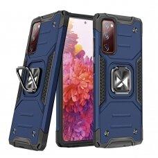 Wozinsky Ring Armor Case Kickstand Tough Rugged Cover for Samsung Galaxy S20 FE 5G blue