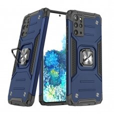Wozinsky Ring Armor Case Kickstand Tough Rugged Cover for Samsung Galaxy S20+ (S20 Plus) blue