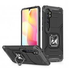 Wozinsky Ring Armor Case Kickstand Tough Rugged Cover for Xiaomi Mi Note 10 / Mi Note 10 Pro / Mi CC9 Pro black