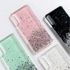 Wozinsky Star Glitter Shining Cover for Samsung Galaxy A41 green