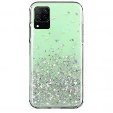 Wozinsky Star Glitter Shining Cover for Samsung Galaxy A42 5G green