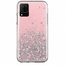 Wozinsky Star Glitter Shining Cover for Samsung Galaxy A42 5G pink