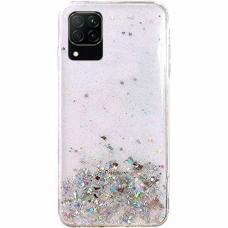 Wozinsky Star Glitter Shining Cover for Samsung Galaxy A42 5G transparent