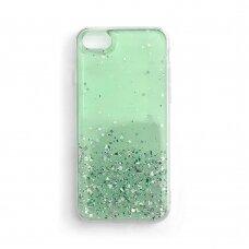 Wozinsky Star Glitter Shining Cover for Samsung Galaxy S21 5G green