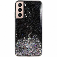 Wozinsky Star Glitter Shining Cover for Samsung Galaxy S21+ 5G (S21 Plus 5G) black