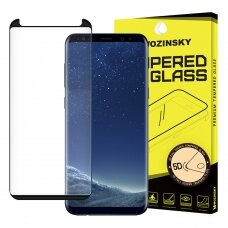 Wozinsky Tempered Glass 5D Full Glue Super Tough Screen Protector Full Coveraged with Frame for Samsung Galaxy S8 G950 black - case friendly (wnf98) (SSGS8)