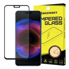 Wozinsky Tempered Glass Full Glue Super Tough Screen Protector Full Coveraged with Frame Case Friendly for Huawei Honor 8X black (dqt52) (HWHNR)