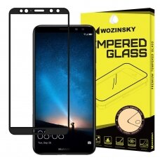 Wozinsky Tempered Glass Full Glue Super Tough Screen Protector Full Coveraged with Frame Case Friendly for Huawei Mate 10 Lite black (are08) (HMT10L)