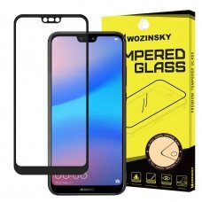 Wozinsky Tempered Glass Full Glue Super Tough Screen Protector Full Coveraged with Frame Case Friendly for Huawei P20 Lite black (sny76) (HP20LT)