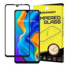 "Rūdīta stikla ekrāna aizsargs ""Wozinsky Tempered Glass Full Glue Super Tough"" Huawei P30 Lite Melns (ijg49)"