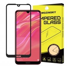 Wozinsky Tempered Glass Full Glue Super Tough Screen Protector Full Coveraged with Frame Case Friendly for Huawei Y5 2019 / Honor 8S black (mep35) (HWY519)