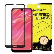 Wozinsky Tempered Glass Full Glue Super Tough Screen Protector Full Coveraged with Frame Case Friendly for Huawei Y7 2019 / Y7 Pro 2019 / Y7 Prime 2019 black (nfu57) (HY719)