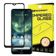 Wozinsky Tempered Glass Full Glue Super Tough Screen Protector Full Coveraged with Frame Case Friendly for Nokia 7.2 / Nokia 6.2 black (vil52) (NOKMI)