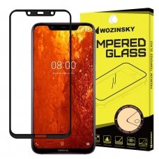 Wozinsky Tempered Glass Full Glue Super Tough Screen Protector Full Coveraged with Frame Case Friendly for Nokia 8.1 / Nokia X7 black (vil52) (NOKMI)
