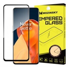 Wozinsky Tempered Glass Full Glue Super Tough Screen Protector Full Coveraged with Frame Case Friendly for OnePlus 9 black