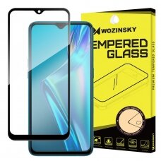 Wozinsky Tempered Glass Full Glue Super Tough Screen Protector Full Coveraged with Frame Case Friendly for Oppo A12 / A5s / A7 black