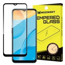 Wozinsky Tempered Glass Full Glue Super Tough Screen Protector Full Coveraged with Frame Case Friendly for Oppo A15 black