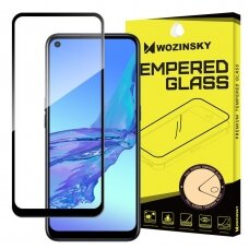 Wozinsky Tempered Glass Full Glue Super Tough Screen Protector Full Coveraged with Frame Case Friendly for Oppo A53 black