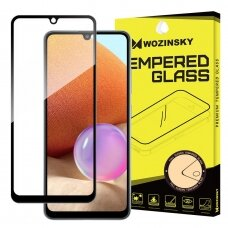 Wozinsky Tempered Glass Full Glue Super Tough Screen Protector Full Coveraged with Frame Case Friendly for Samsung Galaxy A32 4G black